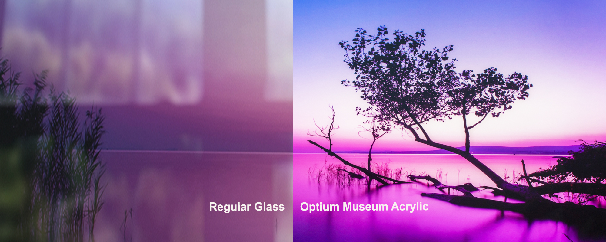 Regular glass vs Optium Museum Acrylic
