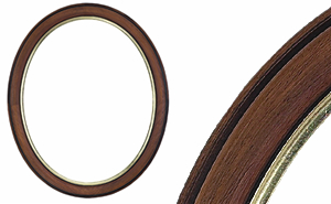Antique Walnut and Gold Oval Frame